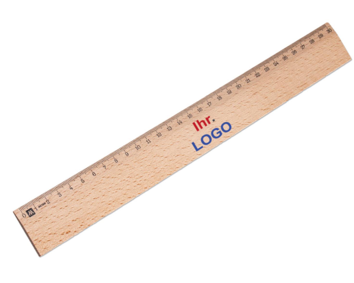 Holzlineal 30 cm