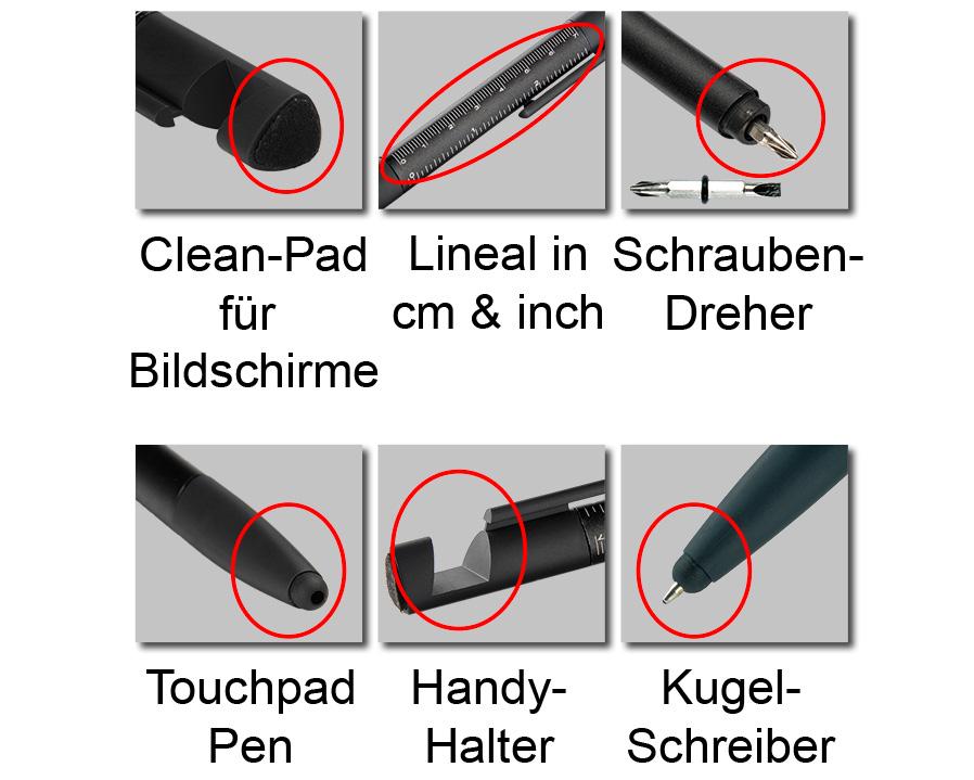 6-in-1 Kugelschreiber