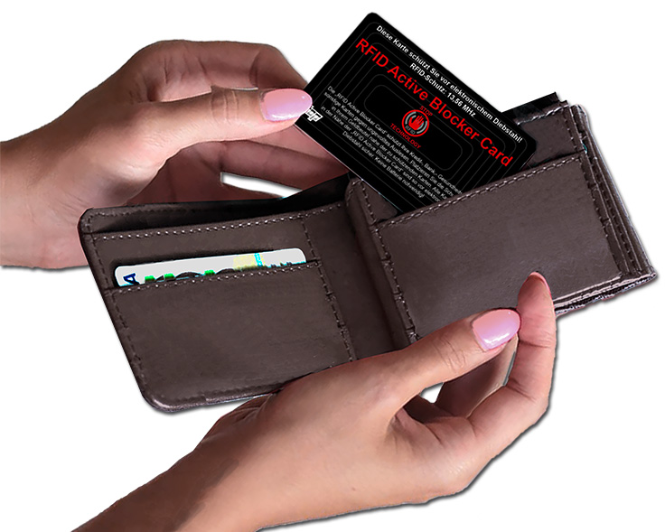 RFID-Active Blocker Card als bedruckter Werbeartikel