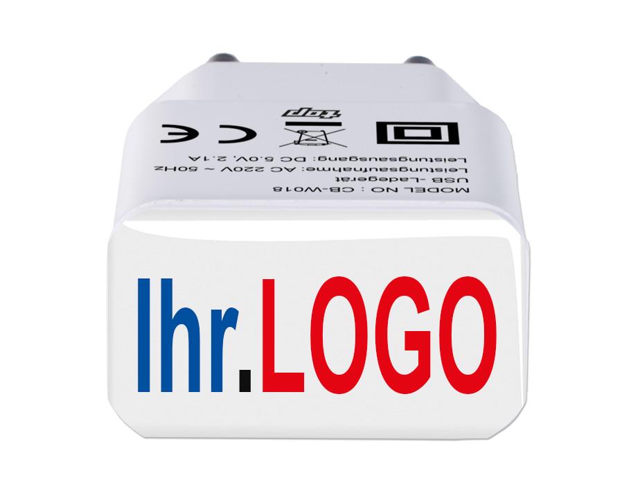 USB-Lade-Stecker 220 V mit Ihrem Logo