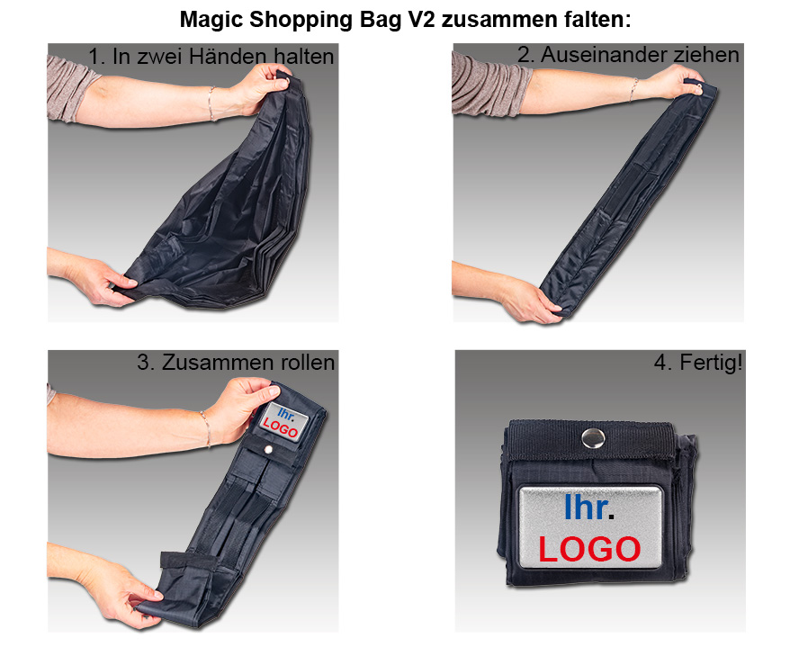 Magic Shopping Bag V2 als bedrucktes Werbegeschenk