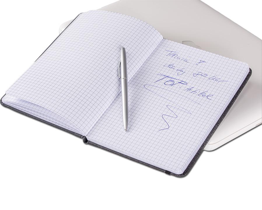 Notizbuch A5 kariert als bedrucktes Giveaway