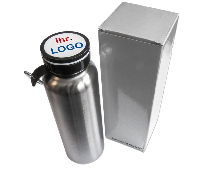Edelstahl-Flasche (doppelwandig) mit Ihrem Logo