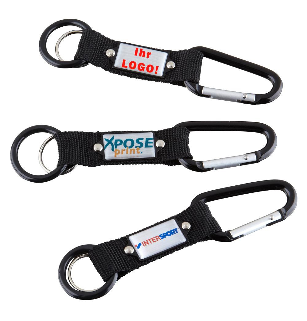 Karabiner Schlüsselanhänger mit Ihrem Logo