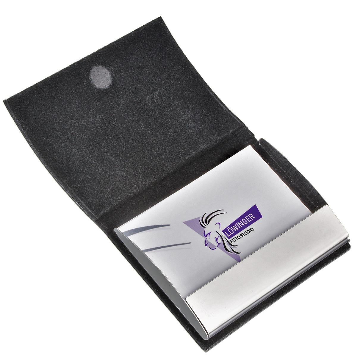 Visitenkarten-Box Metall bedruckt