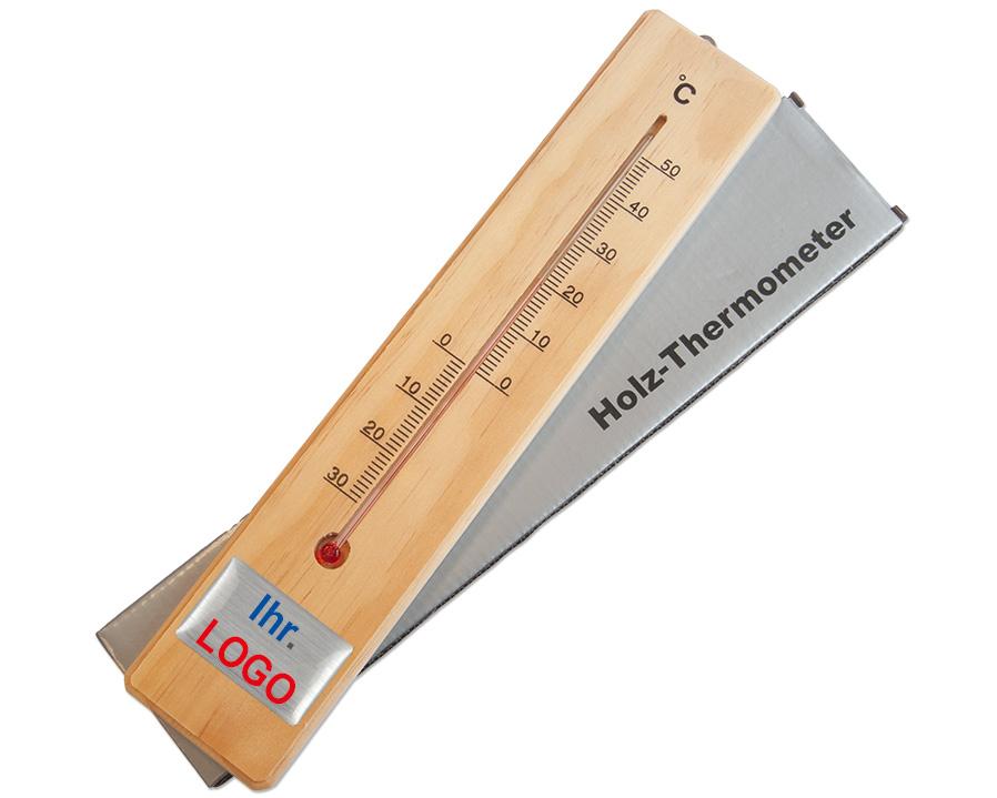 Holzthermometer bedruckt